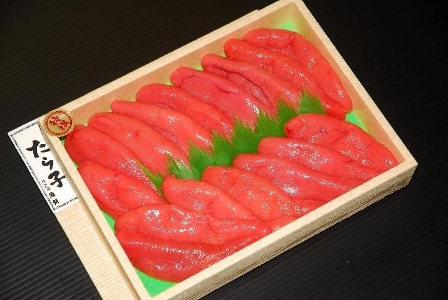 一番人気の特選・甘塩たら子(約800g、3,200円)